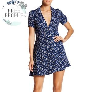 ⬇️$75 Free People Melody Easy Printed Mini Dress 6
